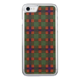 Disの一族の格子縞のスコットランドのキルトのタータンチェック Carved iPhone 8/7 ケース