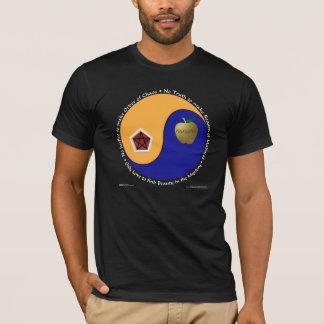Discordian Chao (暗いワイシャツ) Tシャツ