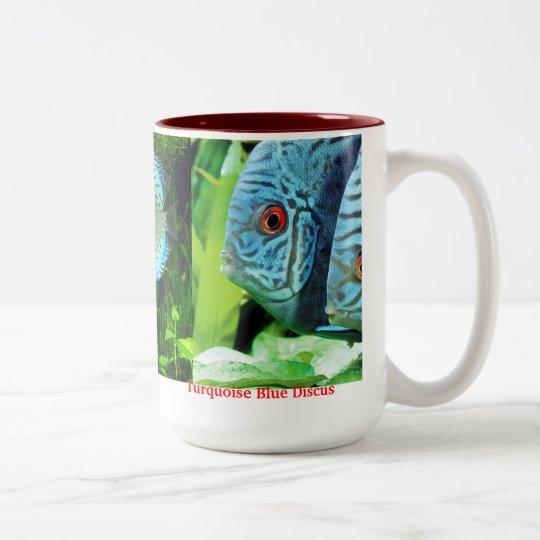 Discus fish ツートーンマグカップ
