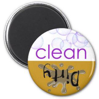 Dishwashing機械-それはきれいまたは汚れていますか。 マグネット