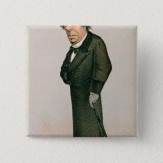 Disraeli、ベンジャーミン 5.1cm 正方形バッジ