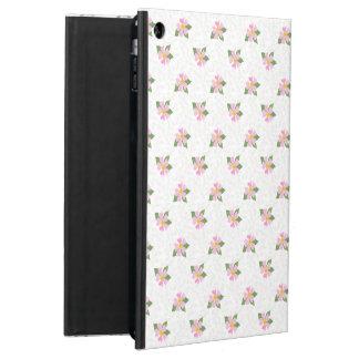 Ditsy犬バラのポルカのスタイルのPowisのiCaseのiPadの場合 iPad Airケース