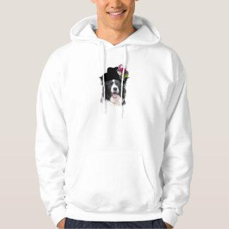 Ditzy犬のボーダーコリーHoddie~Easter パーカ