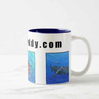 DiveBuddy.comのコーヒー・マグ ツートーンマグカップ