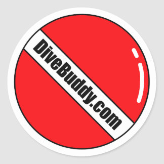 DiveBuddy.comの円形のステッカー ラウンドシール