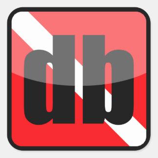 DiveBuddy.comの正方形のステッカー スクエアシール