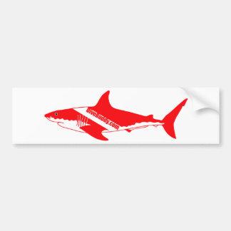 DiveBuddy.comの鮫のステッカー バンパーステッカー