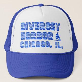 Diversey港のシカゴのトラック運転手の帽子 キャップ