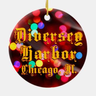 Diversey港のシカゴの陶磁器のオーナメント セラミックオーナメント