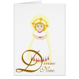 """""""Divino Nino""""の数々のな目的はカードカスタマイズ グリーティングカード"""