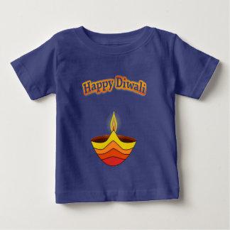 DiwaliおよびDiya幸せなランプ ベビーTシャツ