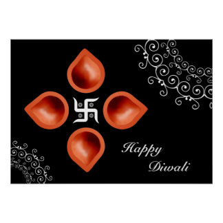 Diwaliランプの装飾 ポスター