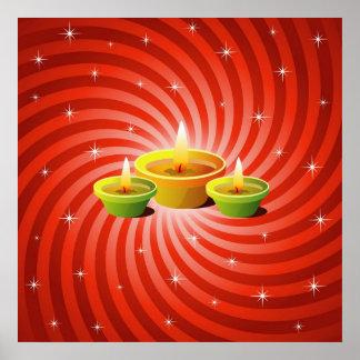 Diwali白熱ランプ ポスター