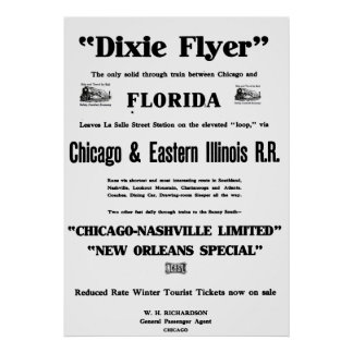Dixieのフライヤは国家の首位のTrain Serviceでした ポスター