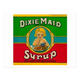 Dixieの女中のシロップLabelCairo、GA ポストカード