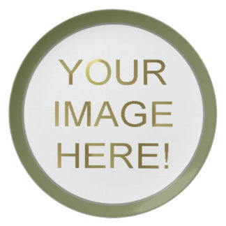 DIYのカスタムで個人的な緑の写真のプレートのイメージ プレート