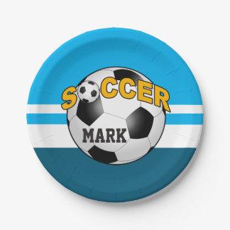 DIYのサッカーボールはあなたの背景色を選びます ペーパープレート