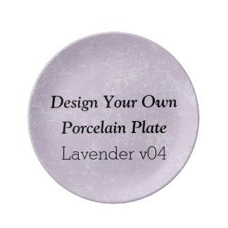 DIYのデザインあなた自身の磁器皿のラベンダーV04A 磁器プレート