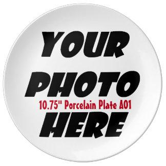 DIYのデザインあなた自身の磁器皿大きいA01A. 磁器プレート