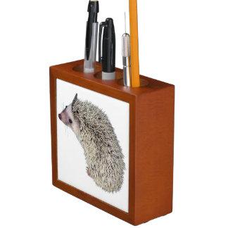 DIYのハリネズミのペンのホールダー ペンスタンド
