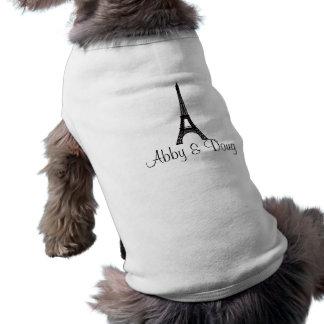 DIYのモノグラムのエッフェル塔のデザイン ペット服