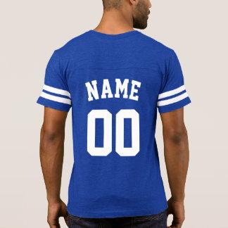 DIYの名前+数フットボール・チーム Tシャツ