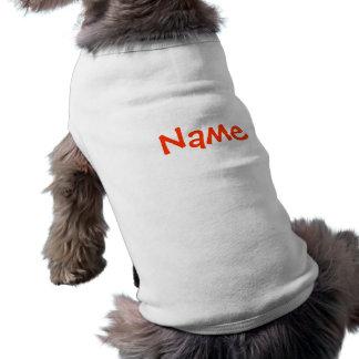 DIYの名前-犬の服装のタンクトップの白 犬用袖なしタンクトップ