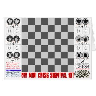 DIYの小型チェスの存続キットPapercraft カード