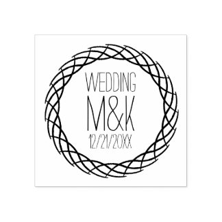 DIYの結婚式のモノグラムの空想の円のゴム印 ラバースタンプ
