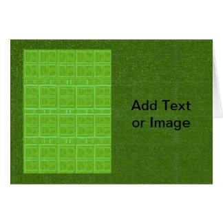 DIYの芸術用具- ART101緑の豊富な表面 カード
