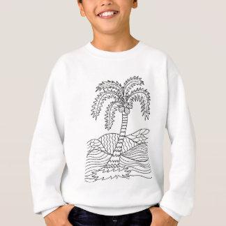 DIYの落書きを着色するヤシの木 スウェットシャツ