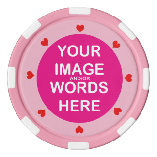 DIYの~のバレンタインの赤いハートのポーカー用のチップ ポーカーチップ