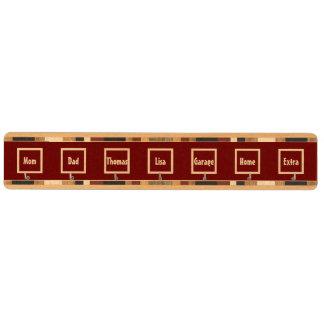 DIYはあなた自身のカスタムなラベルの鍵の棚V08の赤を作成します キーラック