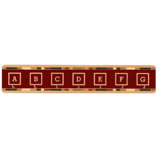 DIYはあなた自身のモノグラムのな主棚V07の赤を作成します キーラック
