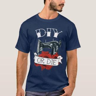 DIYはまたは海軍ミシンの入れ墨のワイシャツ死にます Tシャツ