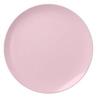 DIYはパステル調ピンクのZazzleのあなた自身のプレートを作成します プレート