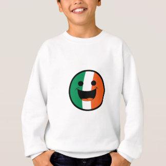 DIYセントパトリックのアイルランドの旗のスマイリーフェイスの不良 スウェットシャツ