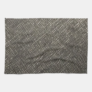 diyレザールックの灰色の質のテンプレートは文字を加えます キッチンタオル