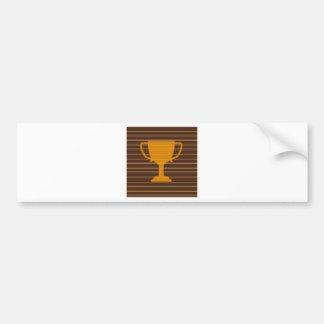 diy勝者のGodlのトロフィのテンプレートは文字の挨拶を加えます バンパーステッカー