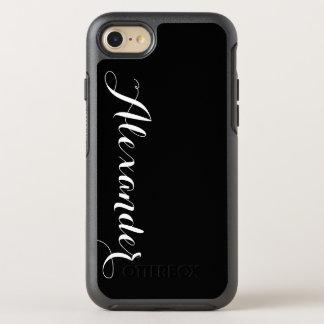 DIY色の背景、一流のモノグラム オッターボックスシンメトリーiPhone 7 ケース