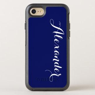 DIY色の背景、一流のモノグラムNBの濃紺 オッターボックスシンメトリーiPhone 7 ケース