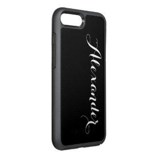 DIY色の背景、一流のモノグラムNBの黒 オッターボックスシンメトリーiPhone 8 PLUS/7 PLUSケース