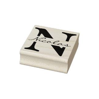 DIY -単にモノグラム/名前 ラバースタンプ