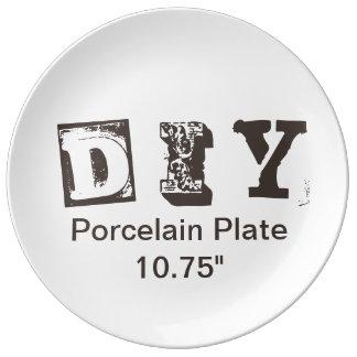 """DIY -磁器皿10.75"""" 磁器プレート"""