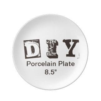 """DIY -磁器皿8.5"""" 磁器プレート"""