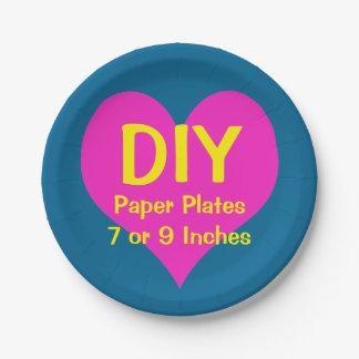 DIY -紙皿7つ ペーパープレート
