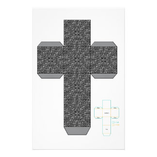 DIY-銀の落書きのデザイン箱のテンプレート 便箋