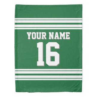 DIY BGの深緑色の白はジャージー2Sを遊ばします 掛け布団カバー