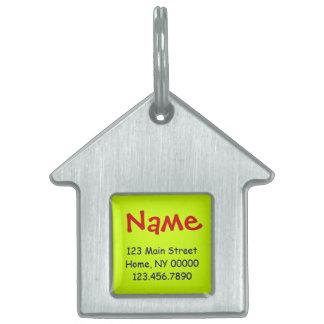 """DIY IDのラベルの~の家のペットタグ1.125"""" x 1.125"""" ペットネームタグ"""
