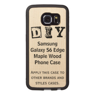 DIY - Samsungの銀河系S6の端のかえで木箱 ウッドケース